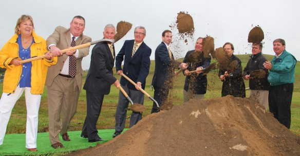The September 2012 groundbreaking for the solar farm at the old landfill on Westford Street.