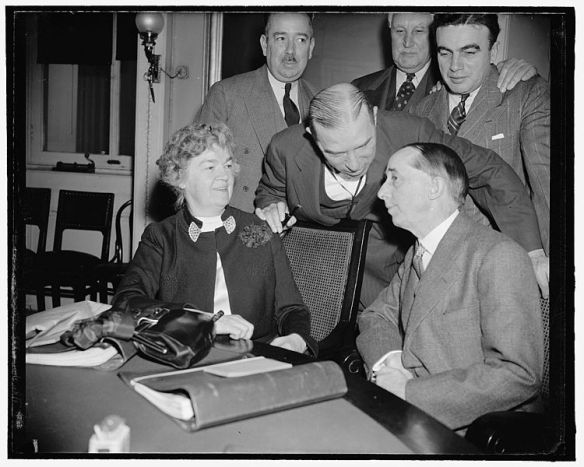 Congresswoman Edith Nourse Rogers and House Foreign Affairs Committee members with Ambassador to Spain Claude Bowers. (photo courtesy of Library of Congress).