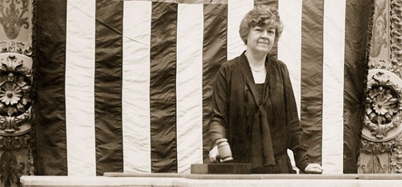 Congresswoman Edith Nourse Rogers presides over the Chamber, 1926 (from the photo collection of the U.S. House of Representatives)
