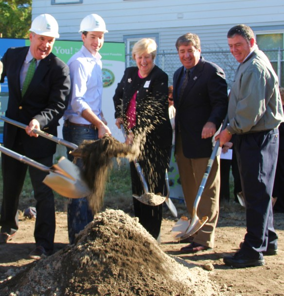 The groundbreaking for the Rock Street houses on October 25, 2012.