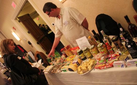 Manny Silva of Silva's Market displays his Portuguese goodies.