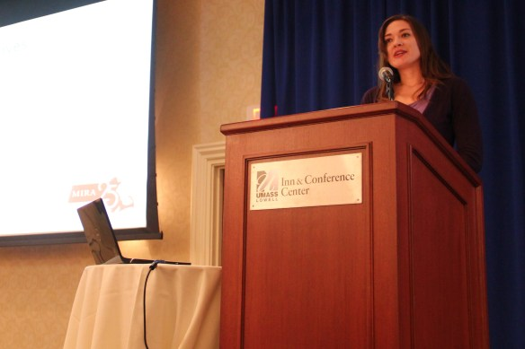 Shannon Erwin, State Policy Director of the Massachusetts Immigrant and Refugee Advocacy Coalition