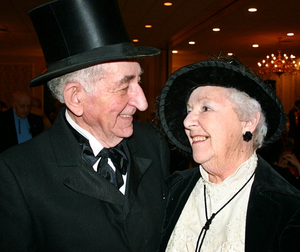 Wilfred Levasseur and his wife of 63 years, Gertrude, at a Dracut Senior Citizens Club dance.