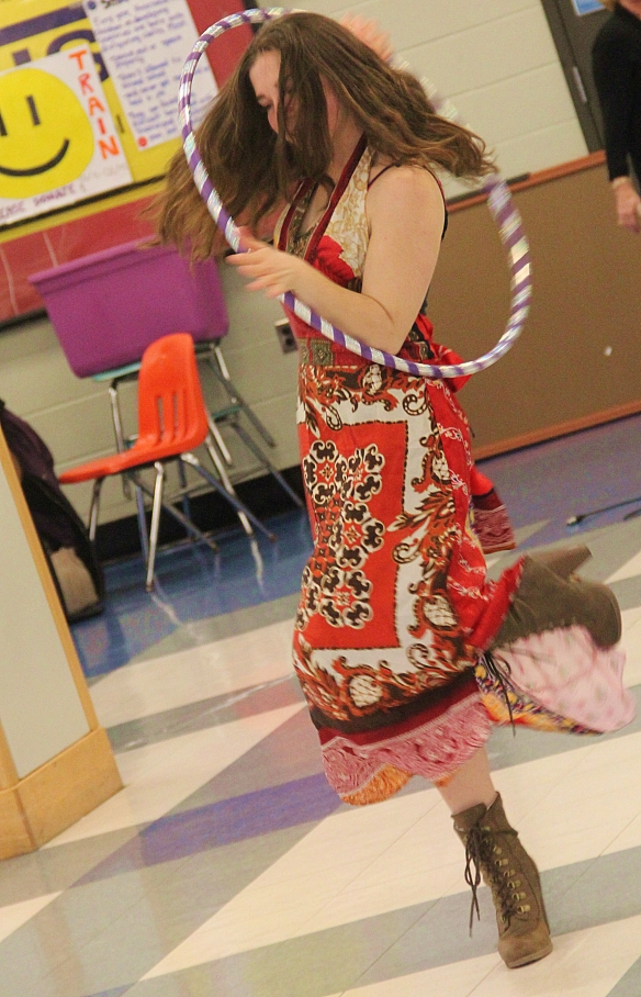 Hula Hooping at Lowell High