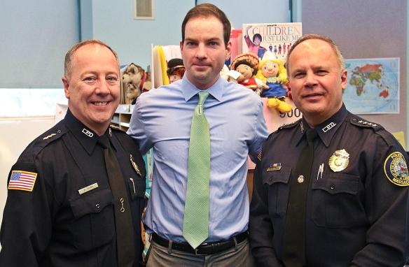 LPD Deputy Superintendent Arthur Ryan, Mayor Patrick Murphy and LPD Superintendent Ken Lavallee.