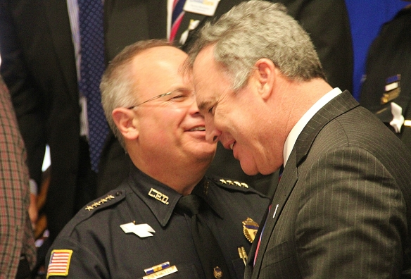 Lowell Police Superintendent Ken Lavallee and City Manager Bernie Lynch