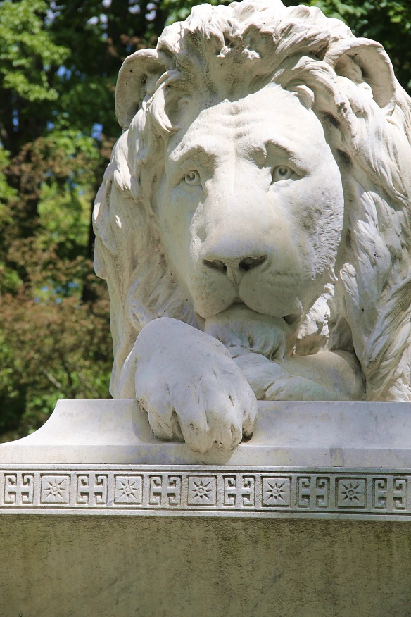 The J.C. Ayer lion. A 25-ton piece made of Italian marble.
