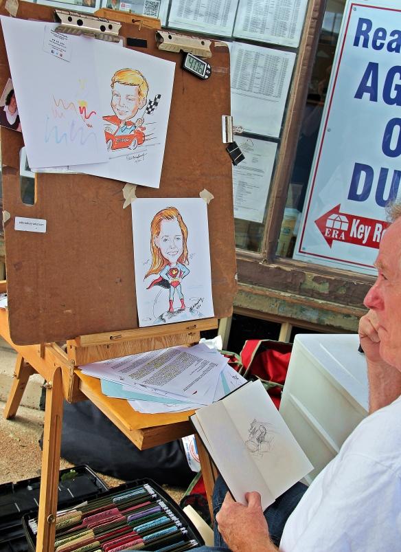 Bill Bradbury draws great caricatures.