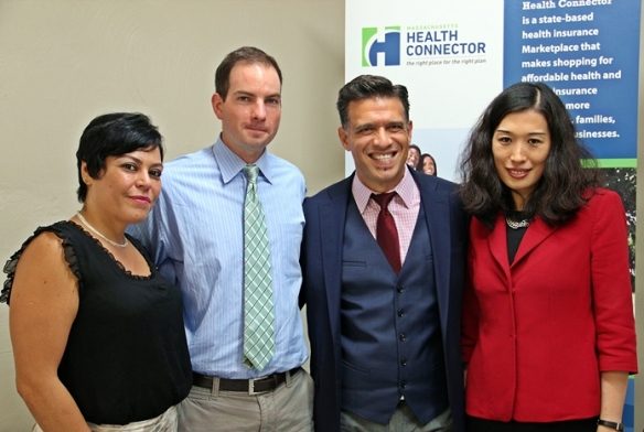Polyanna Figueiredo, Mayor Patrick Murphy, Paulo Pinto and Jean Yang