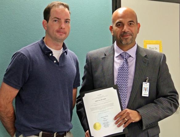 Mayor Murphy and Shriver Job Corps Director Tamer Koheil