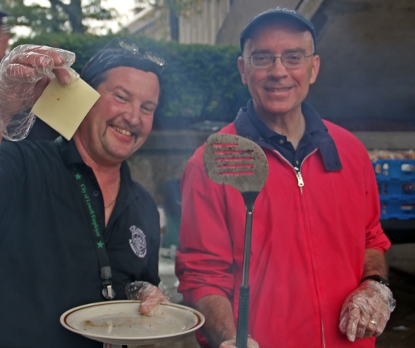 Say Cheese! Dave Ouellette and Henri Marchand - Grill masters.