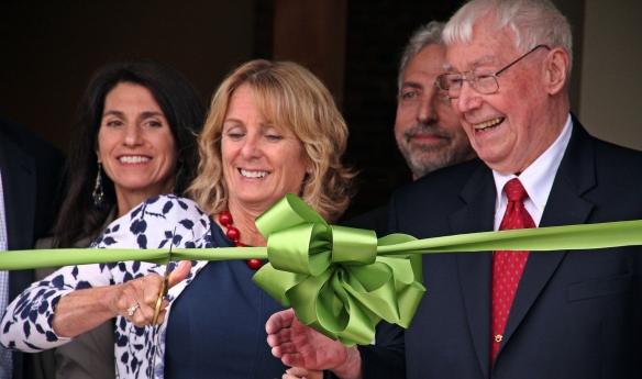 Mary and Ed Walsh Sr. cut the ribbon.